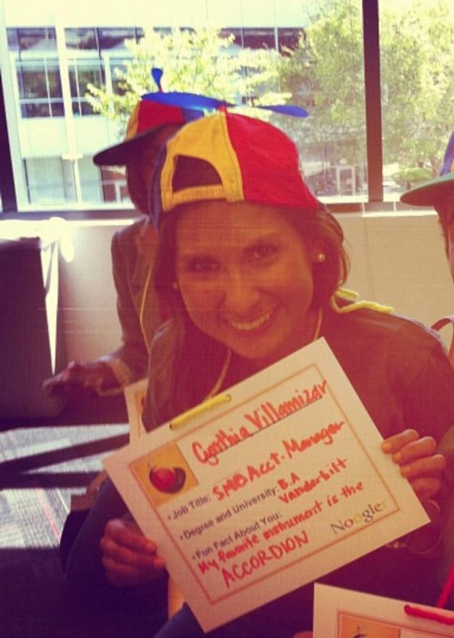 A young Cyn on her first day at Google, still running wild with the Instafilters.