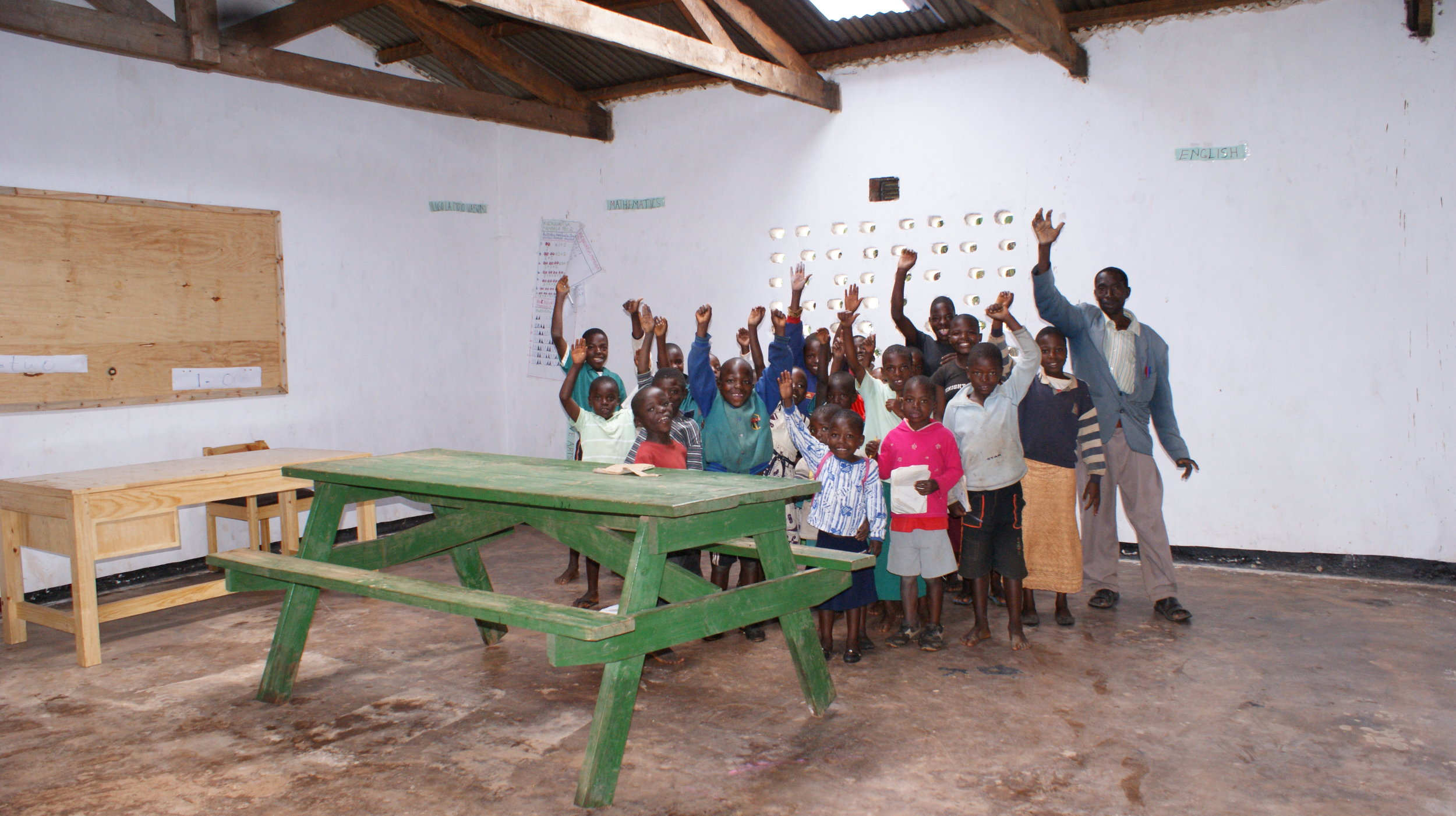 Students at Mkoko Primary School near to KHP