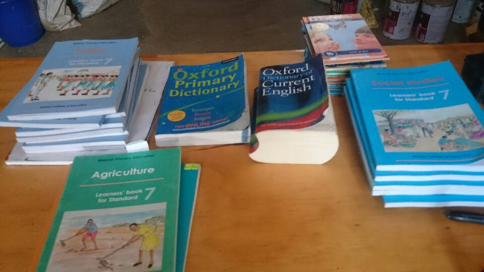 Donated books which are in short supply in Malawi and are very valuable