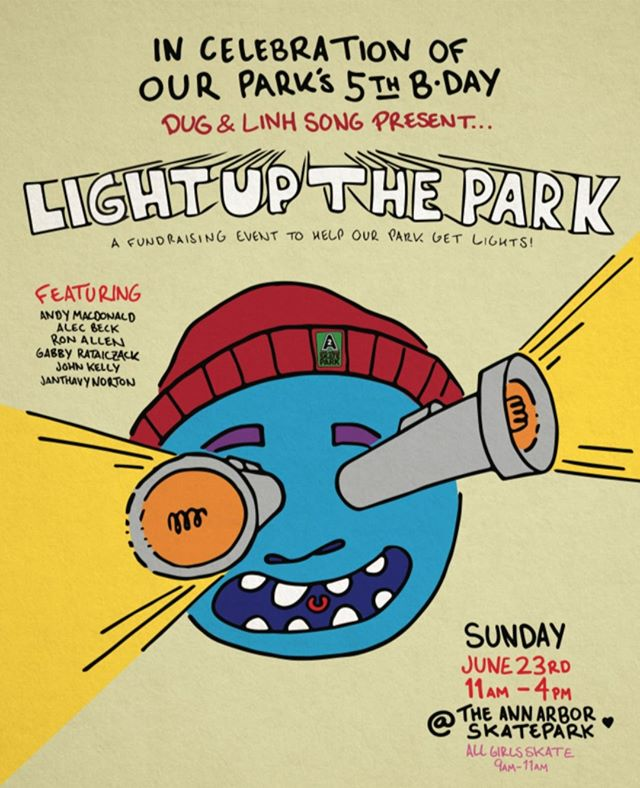 We're so proud to support the @a2skatepark and their 5th Anniversary Light Up The Park Fundraising Event this Sunday! You won't want to miss this event, there'll be music, food, contests, All Girls Skate from 9–11, demos and so much more! Get out there and support your favorite skatepark! 💡🛹🎉  #supportlocal #michiganskateboarding #a2katepark #savcohospitality #poweredbysavco