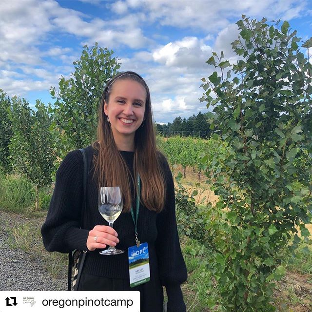 "Thanks for the love @oregonpinotcamp    Kelsey is our favorite!! 🍷💕🎉 ・・・ Campers of OPC: Kelsey Wonsavage, wine director of @savco_hospitality in Ann Arbor, Michigan, says her favorite part of #opc2019 was the Sense of Place workshop following the morning soil pit excursion. ""I loved being in the dirt, and then seeing that comparison and tasting it directly was amazing––a really, really cool experience,"" Kelsey says. She loves Pinot with ""a good gamey piece of meat or seared duck."" Sounds good to us! #CampersofOPC #theylikeourdirt"