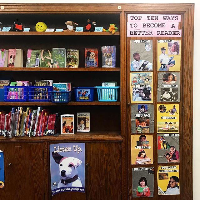 Loving these reading tips spotted in the library at Longfellow Elementary! How do you become a better reader? READ! #rocktownreads #thishouserocks