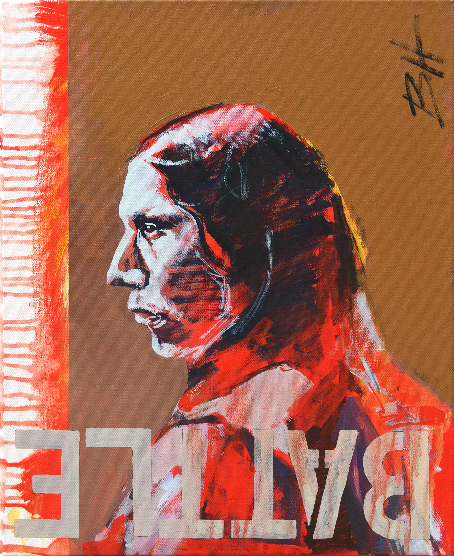Battle  acrylic on canvas, dimensions,  2017