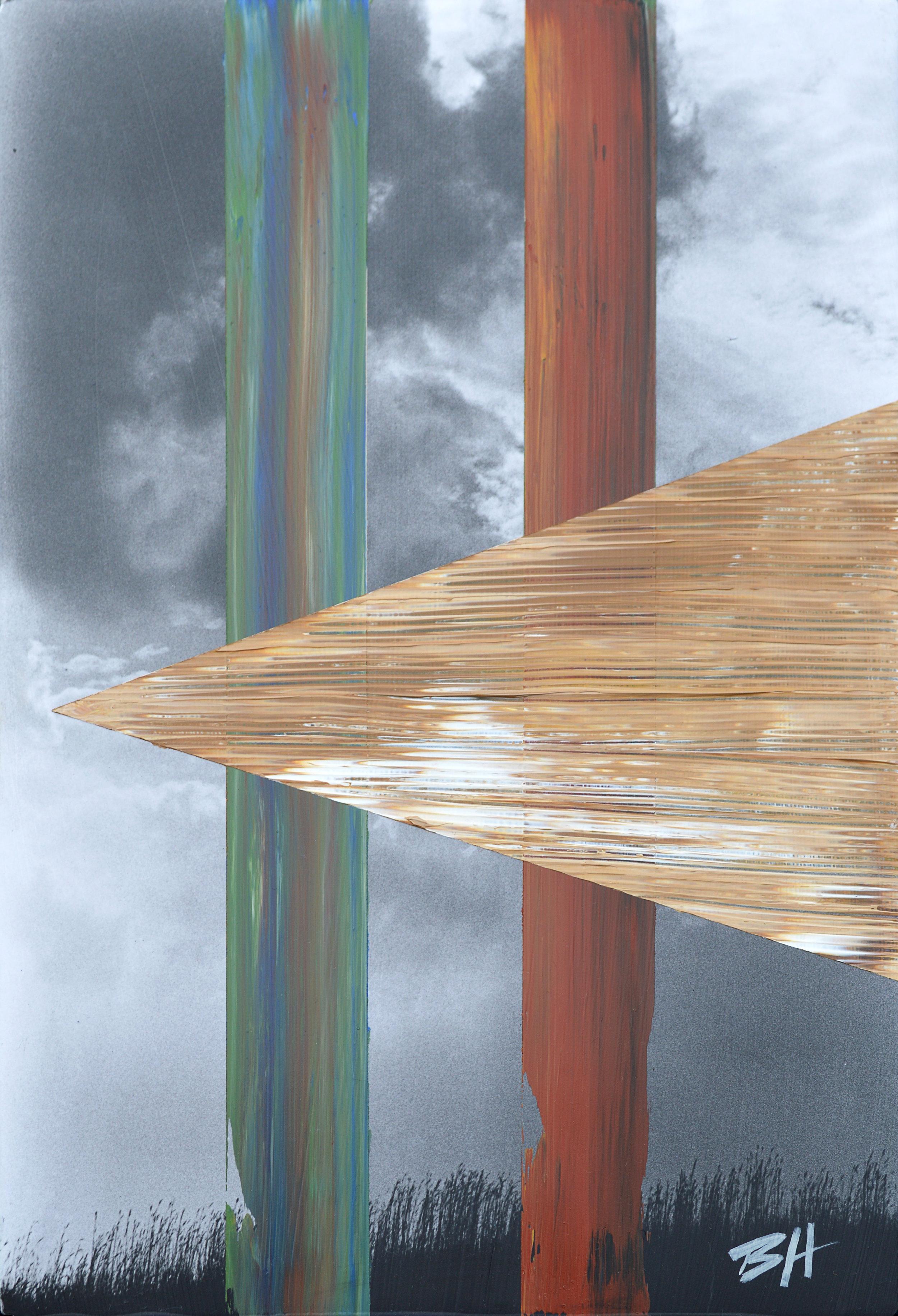 Landscape  acrylic on canvas, dimensions,  2017