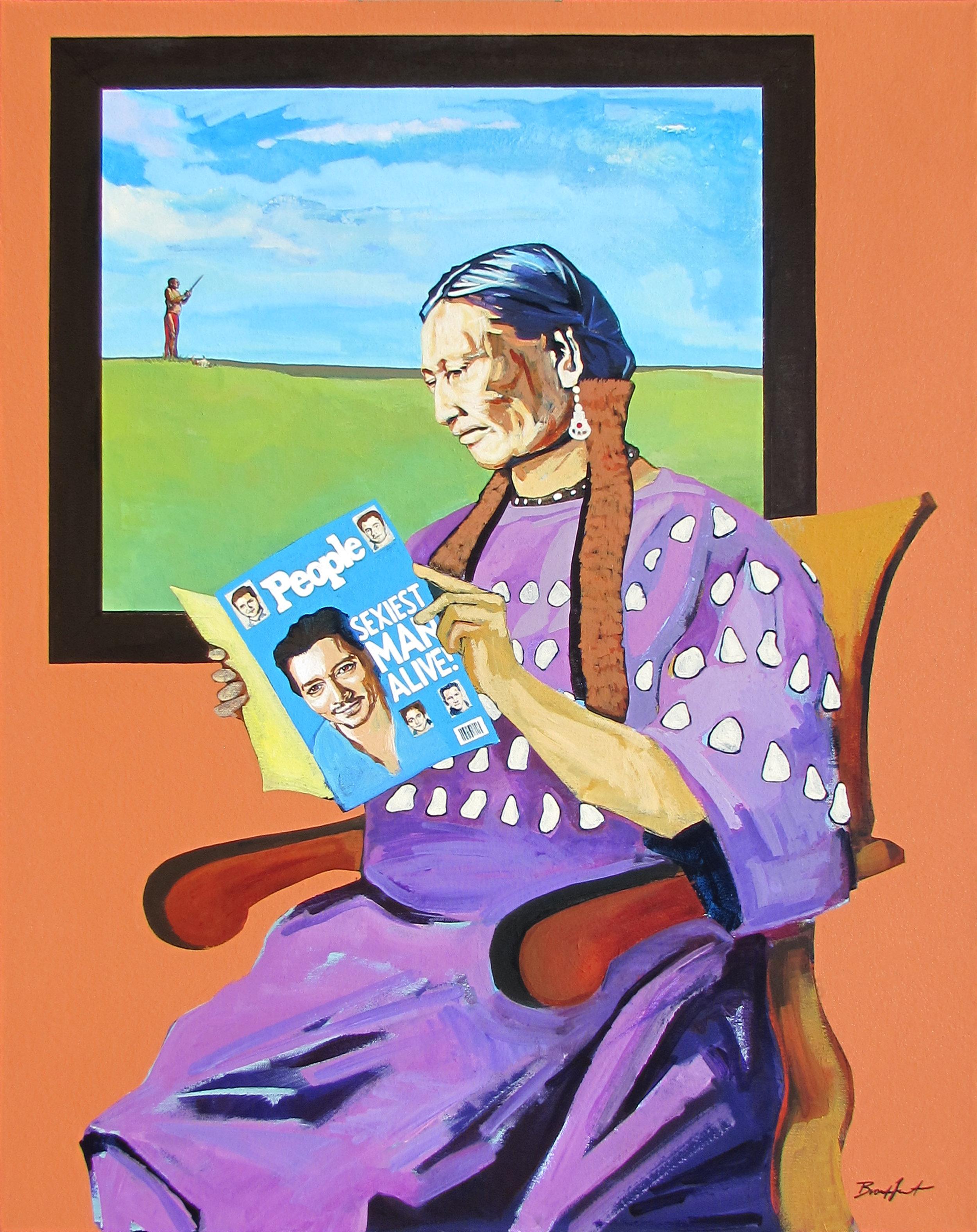 Winuhca Waits On Wicahca, Acrylic on Canvas, 2014