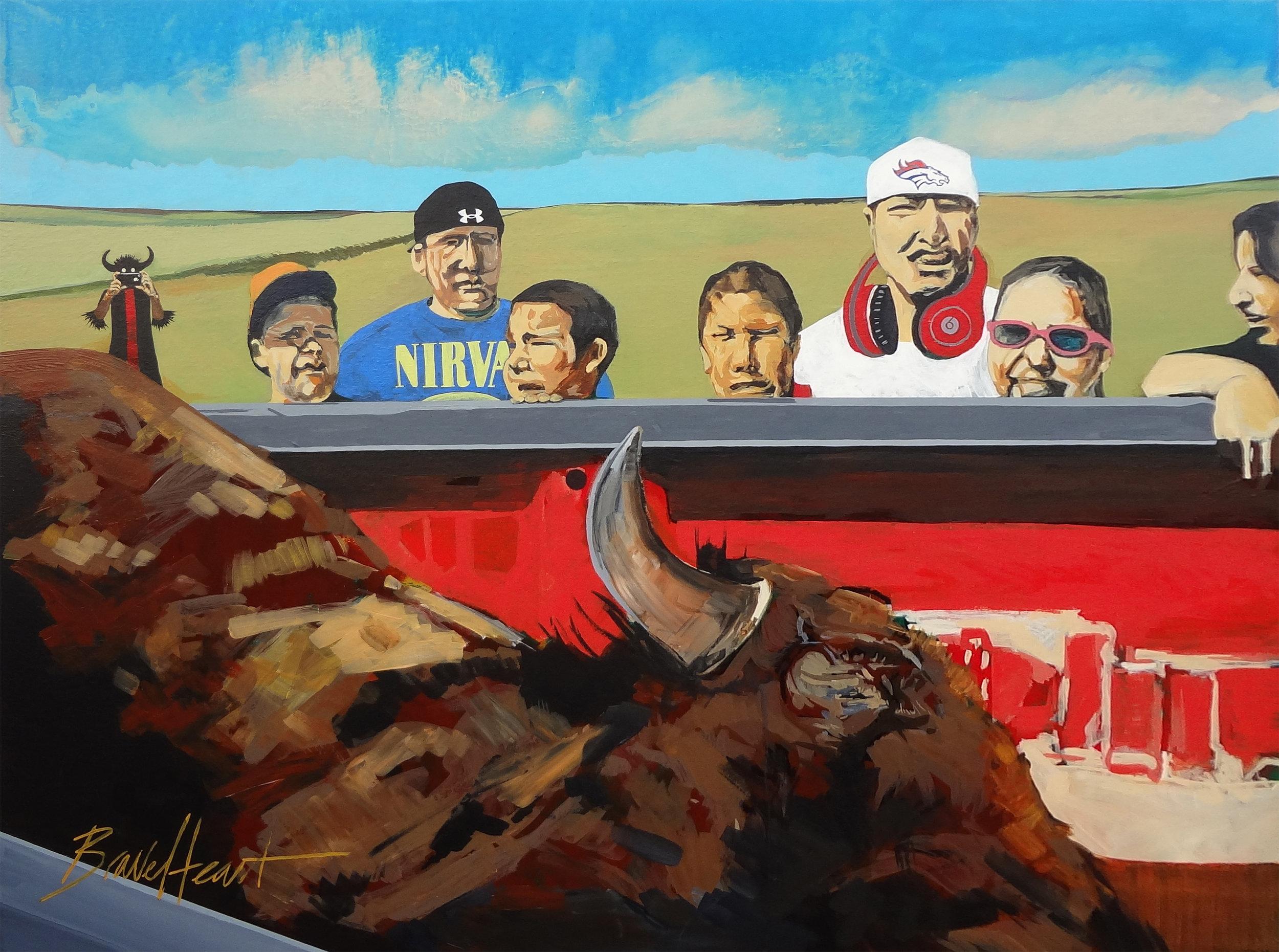 A New Buffalo Kill... An Old Buffalo Life, 2013 // Private Collection