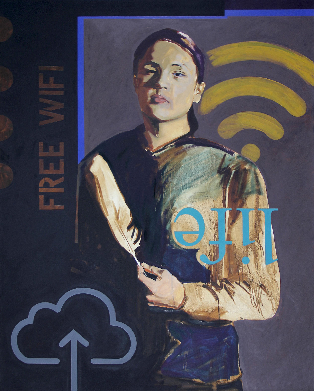 Skan  oil on canvas, 2018