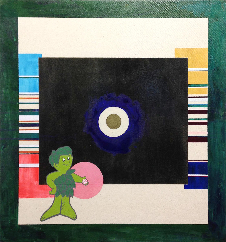 "Iya's Mouth , 17 x 27"", 2016"