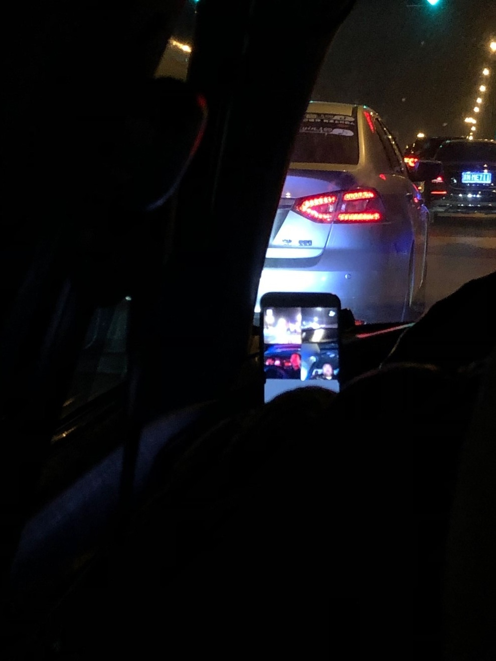 Cab driver on his 4-way video call