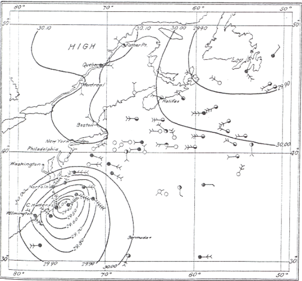 Source: Monthly Weather Review, August 1899 http://www.aoml.noaa.gov/general/lib/lib1/nhclib/mwreviews/1899.pdf