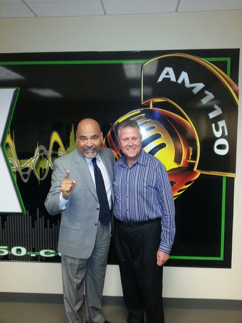 With KTLK 1150AM radio host David Cruz.