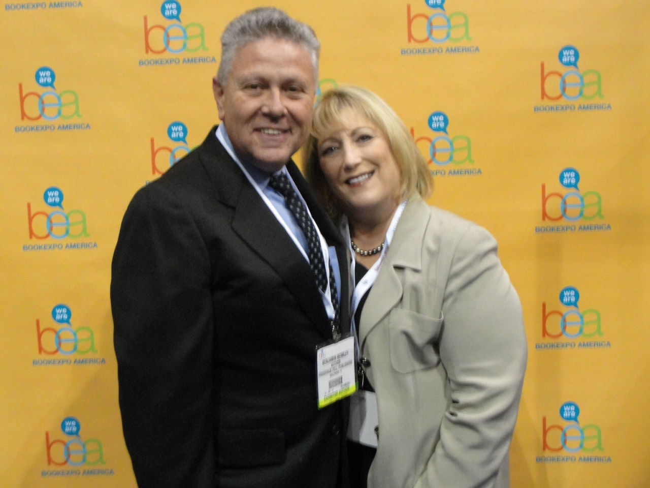 With wife Phyllis at the Book Exposition of America show in June 2012.