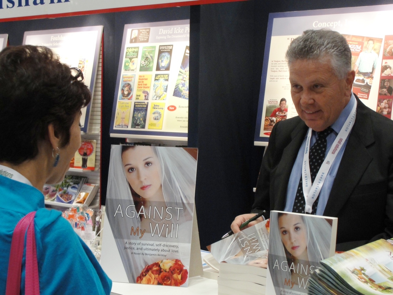 Novel AGAINST MY WILL was launched at the Book Exposition of America held in New York in June 2012.