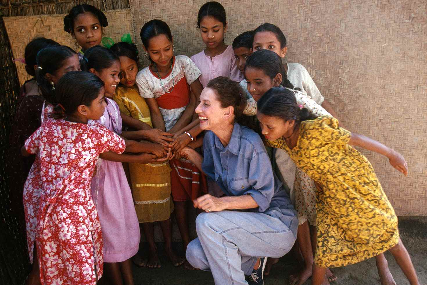 Audrey Hepburn on a UNICEF project in Bangladesh