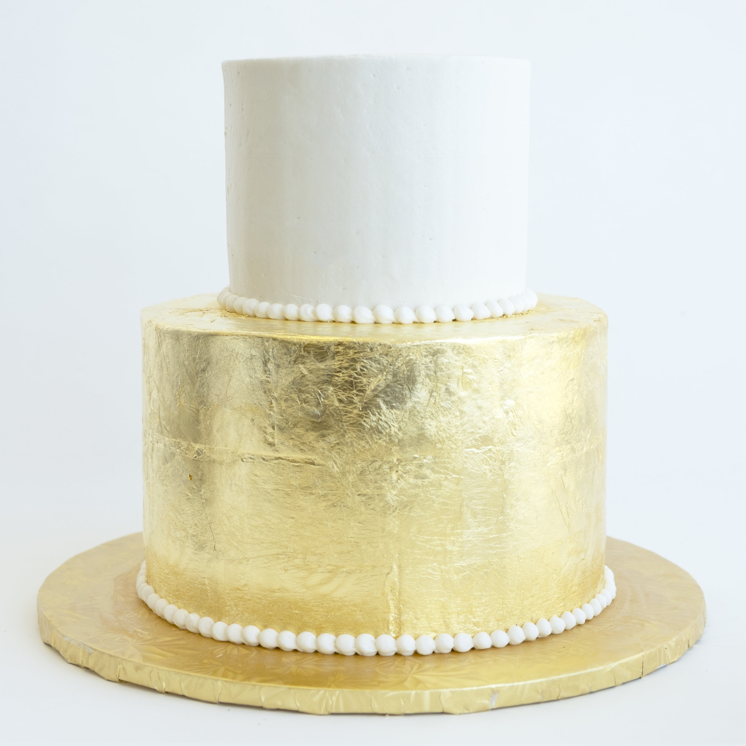 Gold Leaf Wedding Cake.jpg