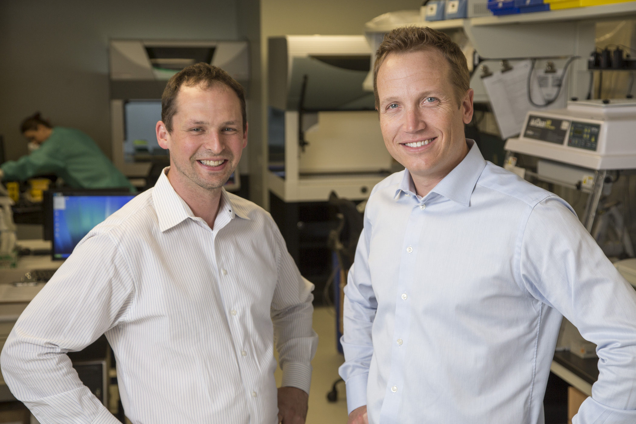 Co-founders Scott Tomlins, MD, PhD and Dan Rhodes, PhD