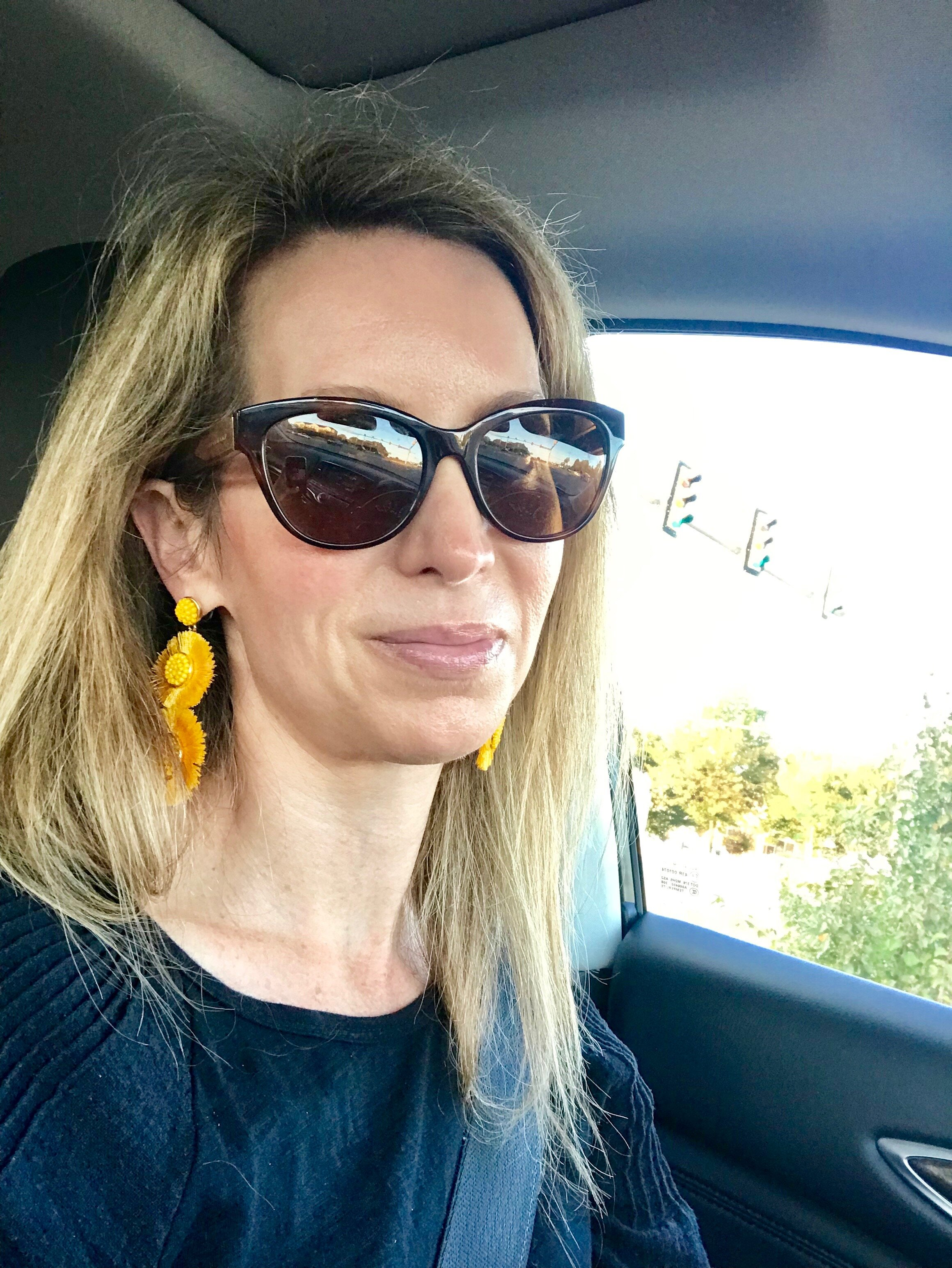 Earrings of the day, for a pop of color