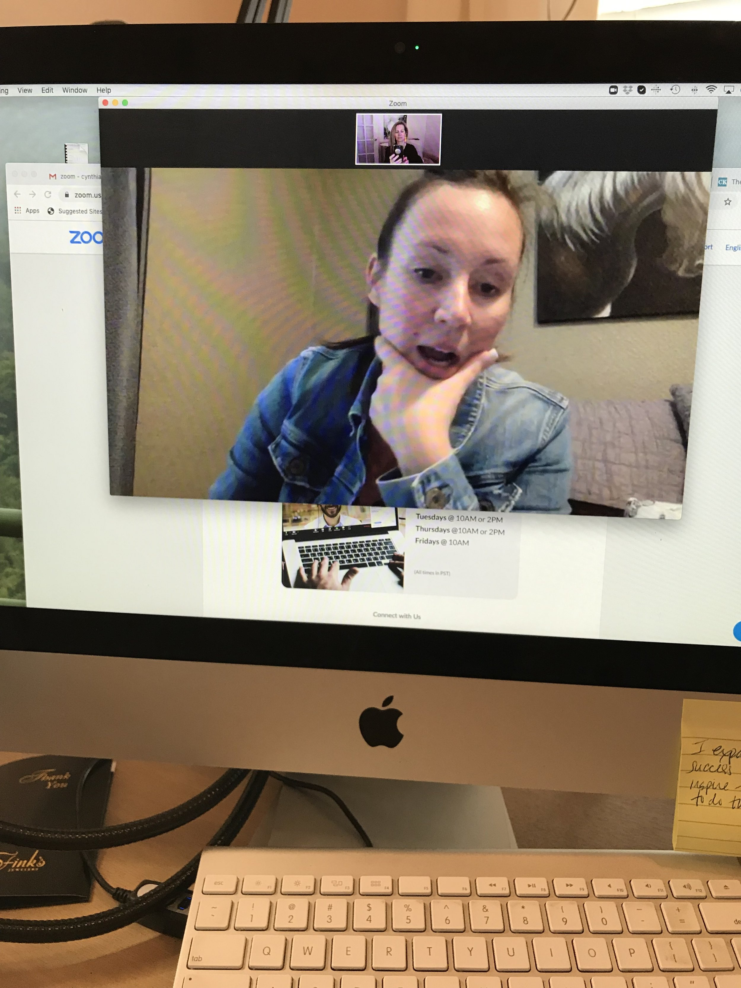 Team meeting with Ambra