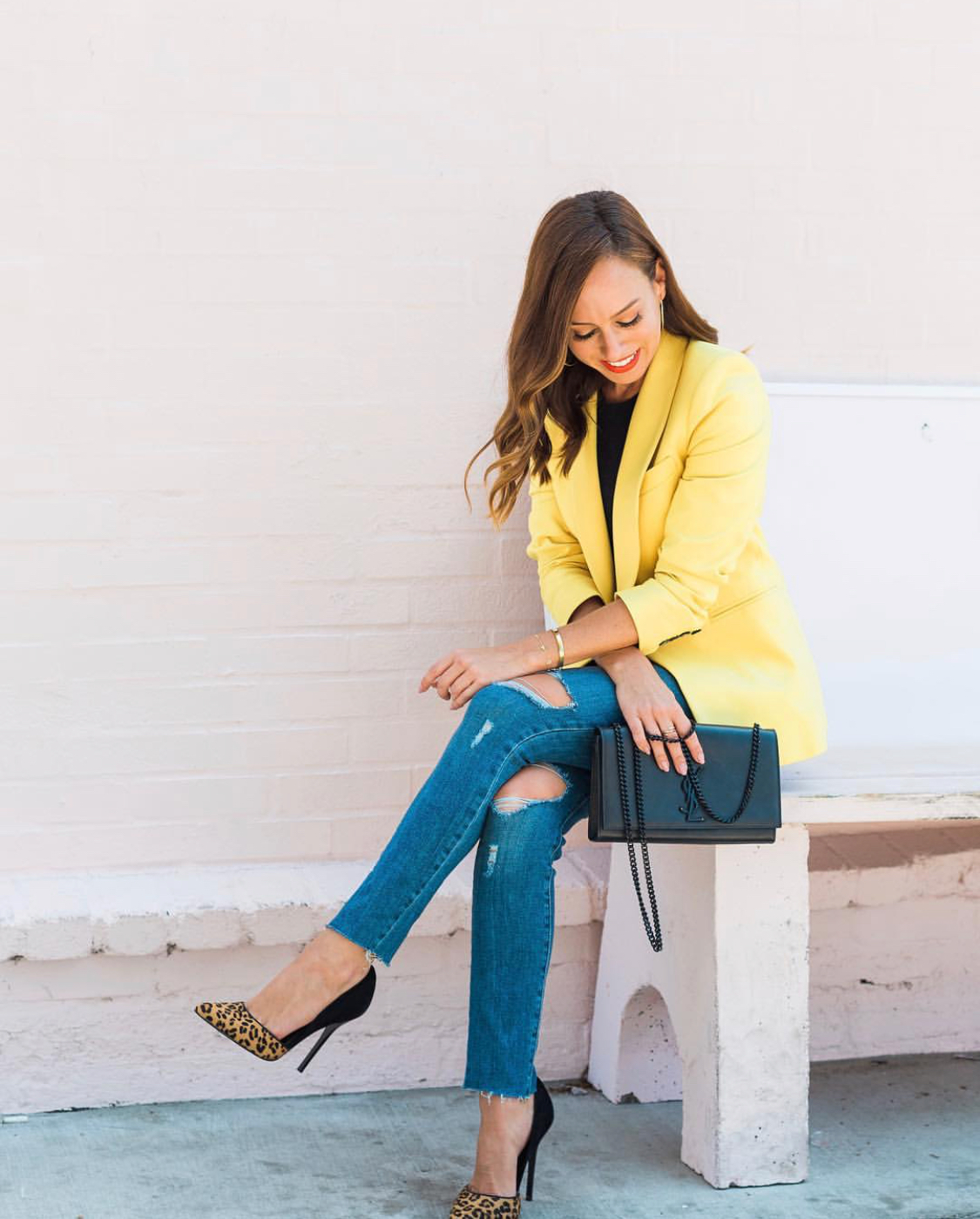 Neon and leopard - Perfect for client meetings that transition into happy hour