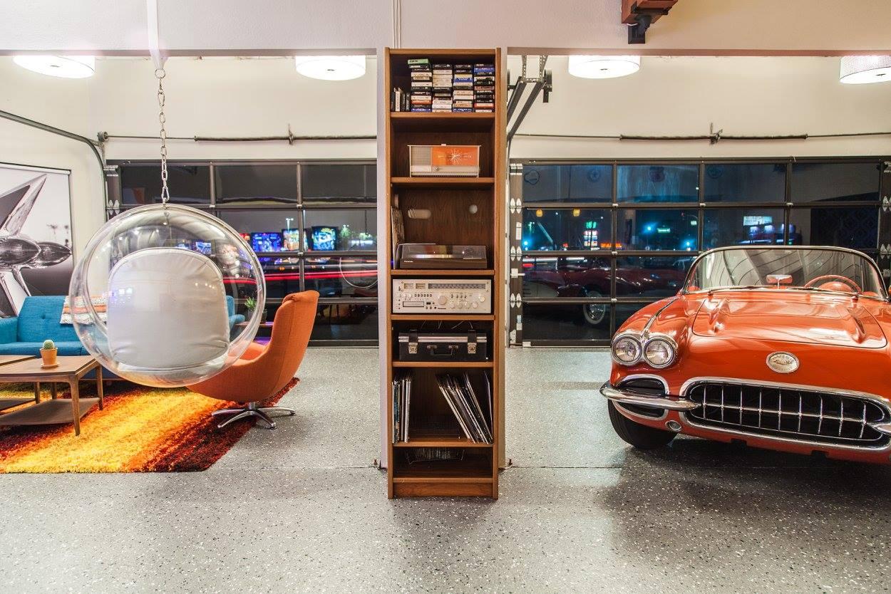 Copy of Corvette  in the garage