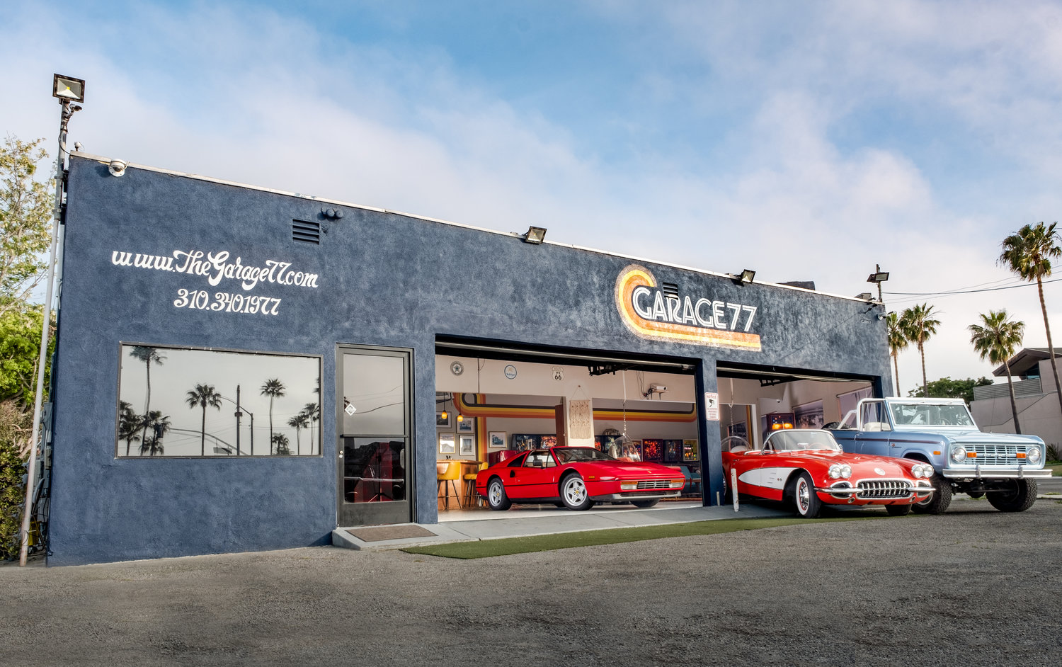 Check out the Fleet. - Our current starting line up of classic cars includes a '59 Corvette C1, '75 Ford Bronco, '87 Ferrari 328 GTS, '56 Porsche 356 Speedster Tribute, '67 Chevy Camaro, '61 Lincoln Continental, '81 DMC Delorean and '77 Jeep CJ-5. Our cars are your cars. Contact us to learn how you can take one for a spin on demand.