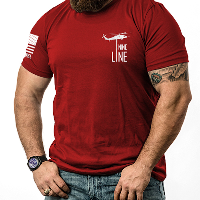 Nine Line Apparel - RED Remember Everyone Deployed T-Shirt