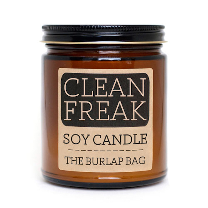 The Burlap Bag Clean Freak Soy Candle