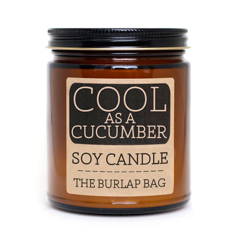 The Burlap Bag Cool As A Cucumber Soy Candle