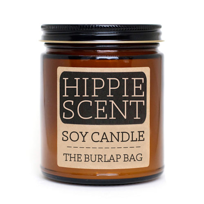 The Burlap Bag Hippie Scent Soy Candle