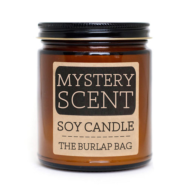 The Burlap Bag Mystery Scent Soy Candle