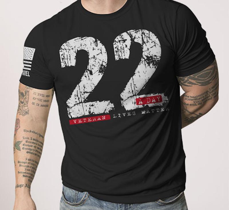 Nine Line Apparel 22 A Day Men's T-Shirts