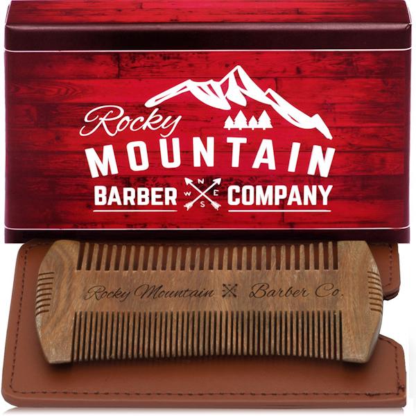 Rocky Mountain Barber Hatchet Edge Sandalwood Beard Comb