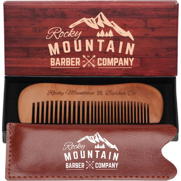 Rocky Mountain Barber Pearwood Travel and Mustache Comb