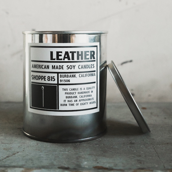 Shoppe 815 Leather Soy Candle