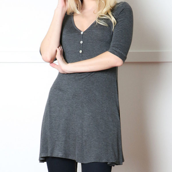 Front Button Trimmed Top