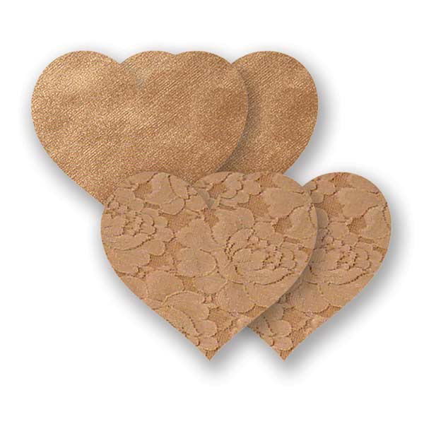 Nippies Waterproof Tan Heart Pasties