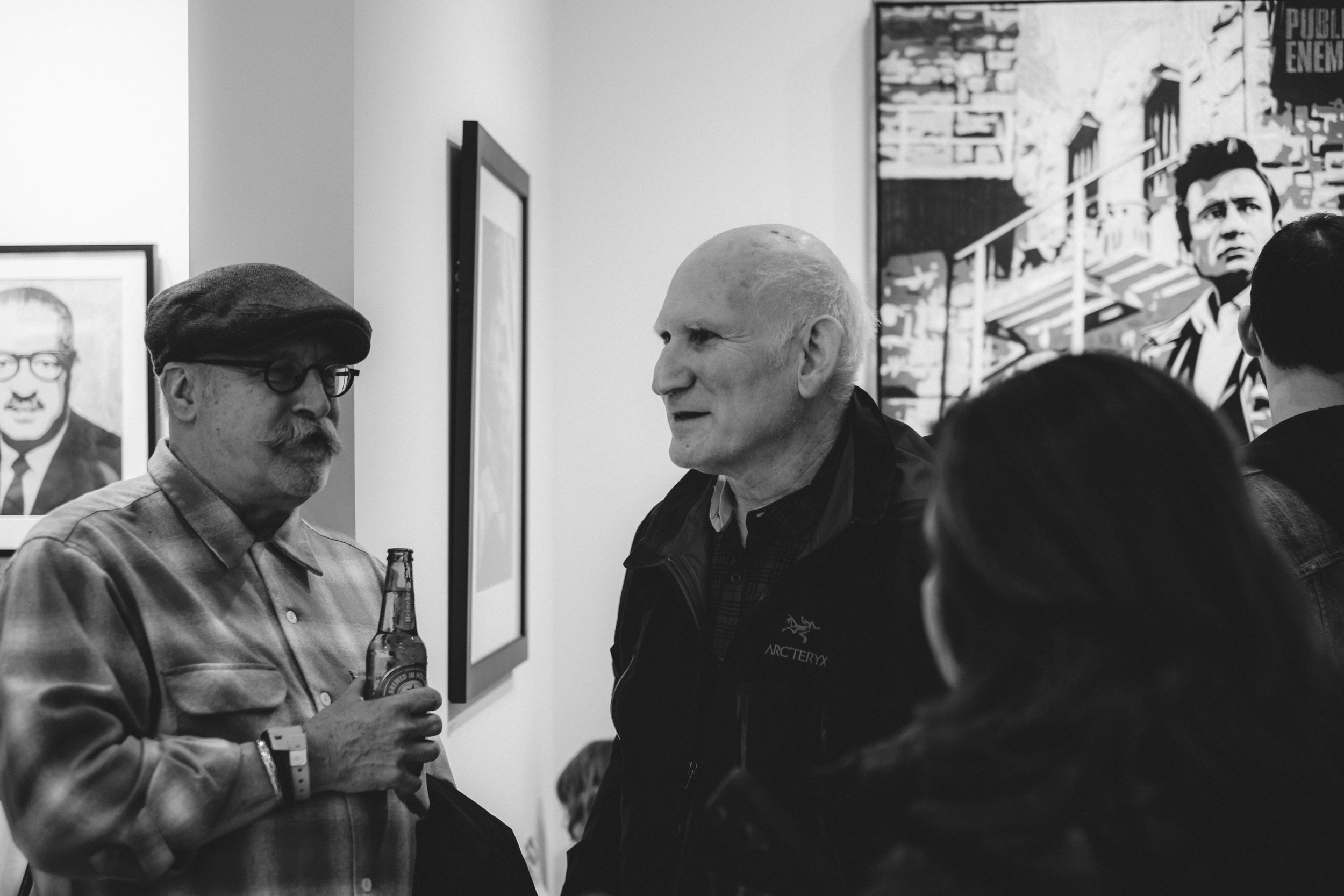 Michael Powers creator of American Civics. Peter Frank; art critic and associate editor of Fabrik Magazine.