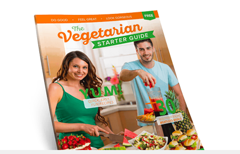 Free Veg Starter Guide - Full of recipes, restaurant options, convenience food issues, meal plans, and more.