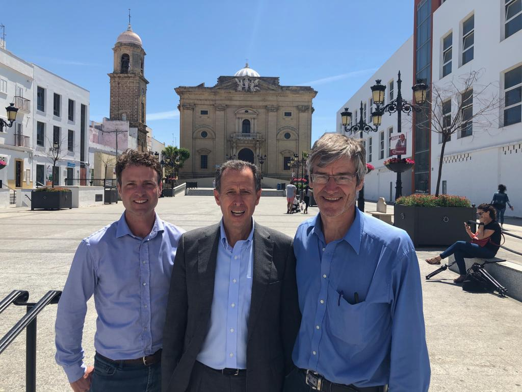 Paul O'Callaghan, CEO, BlueTech Research, Mayor of Chiclana, and Frank Rogalla, Director of Innovation and Technology, Aqualia,  Spain