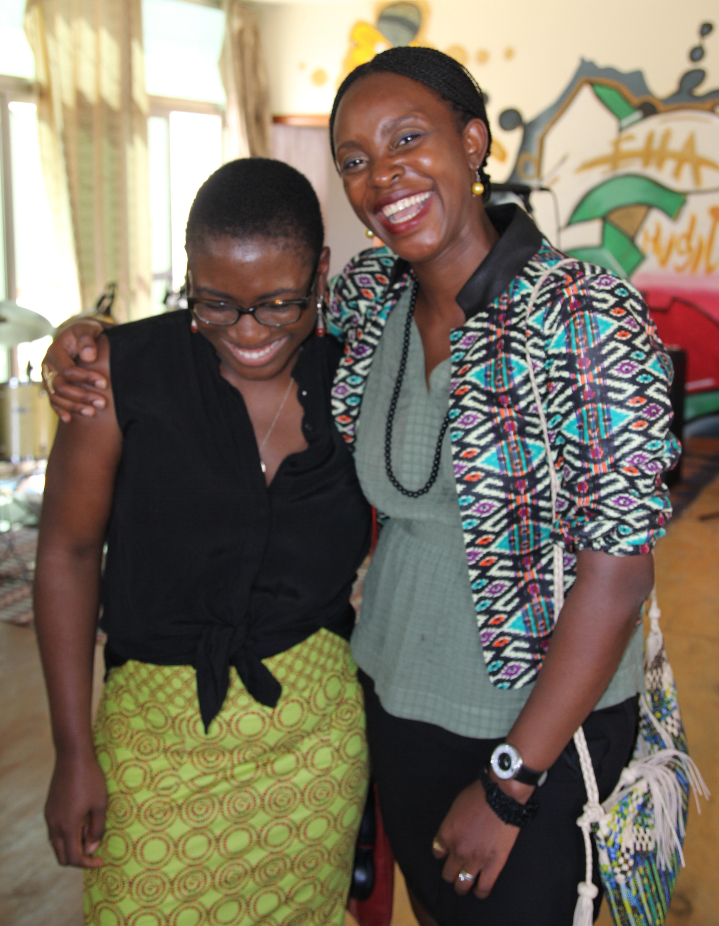 With my friend Rachel-Diane Cusiac-Barr, founder of  Niango,  an Africa-inspired clothing line.