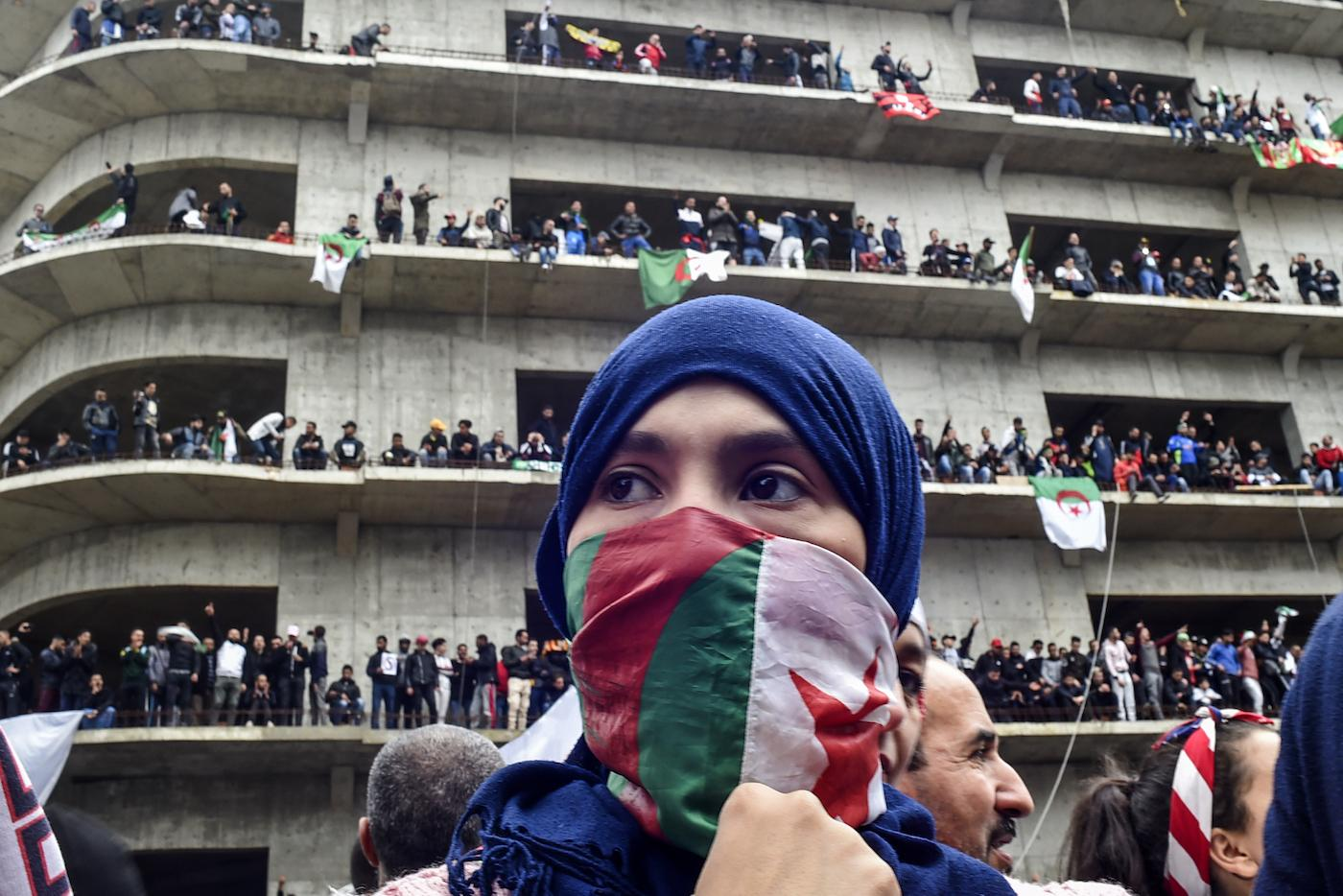 Algerian women have taken a center stage in the massive protests that are transforming the country. Photo credit: Associated Press