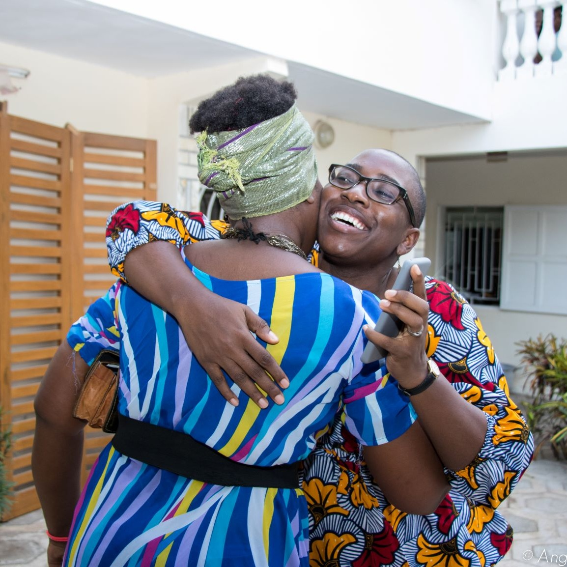 Throwback to Eyala's launch party in Dakar. Nothing beats the warm embrace of a feminist sister. Photo by  Angelique U. Nwachukwu.