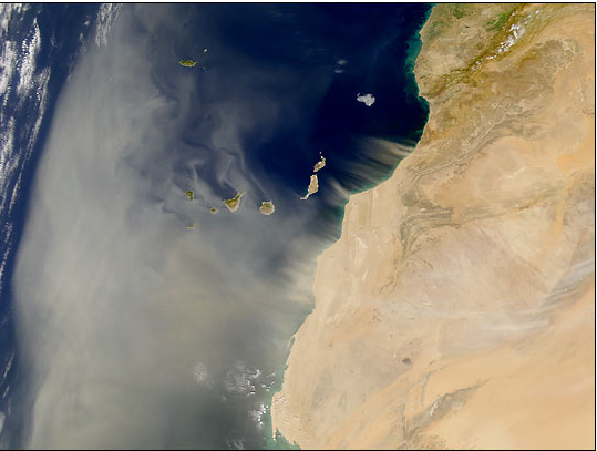 Picture: Nasa's view of the Sahara