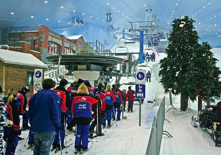 Ski Dubai inside the Mall of the Emirates