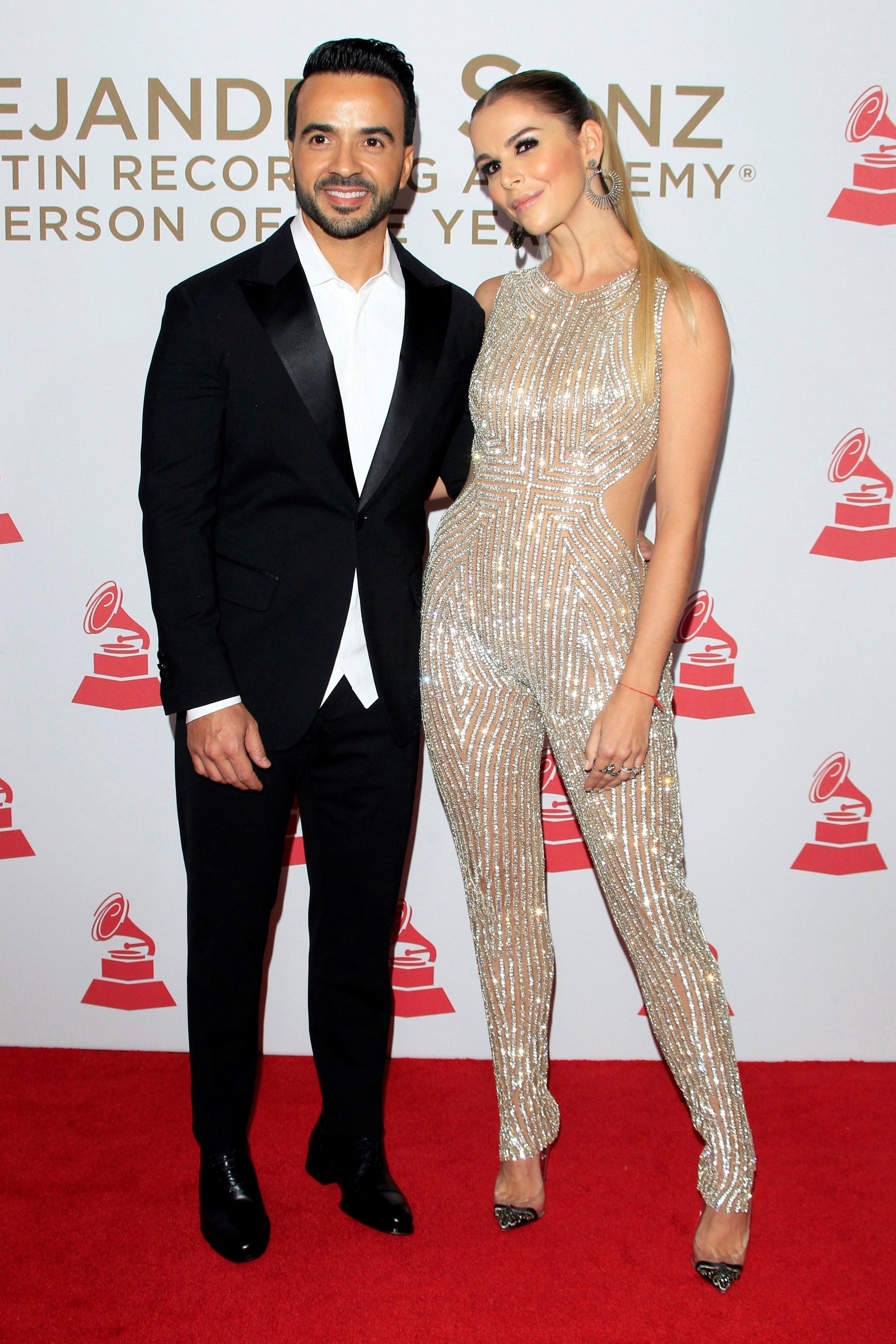 El puertorriqueño Luis Fonsi y la española Águeda López forman una feliz pareja. EFE/ Nina Prommer