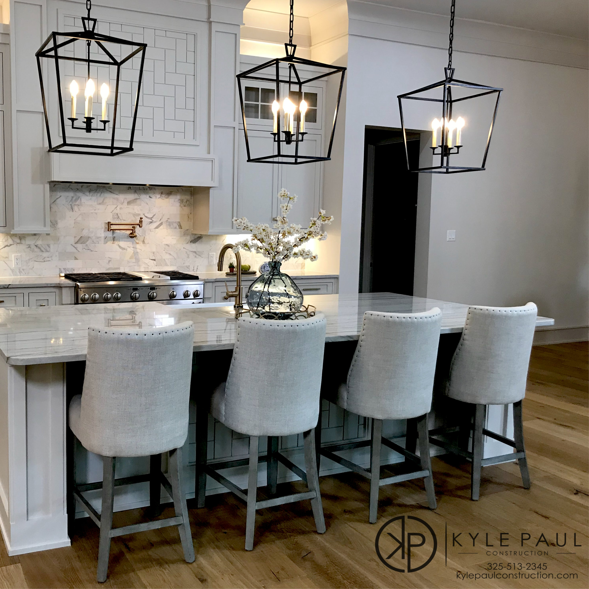 White Kitchen Marble Counter Tops
