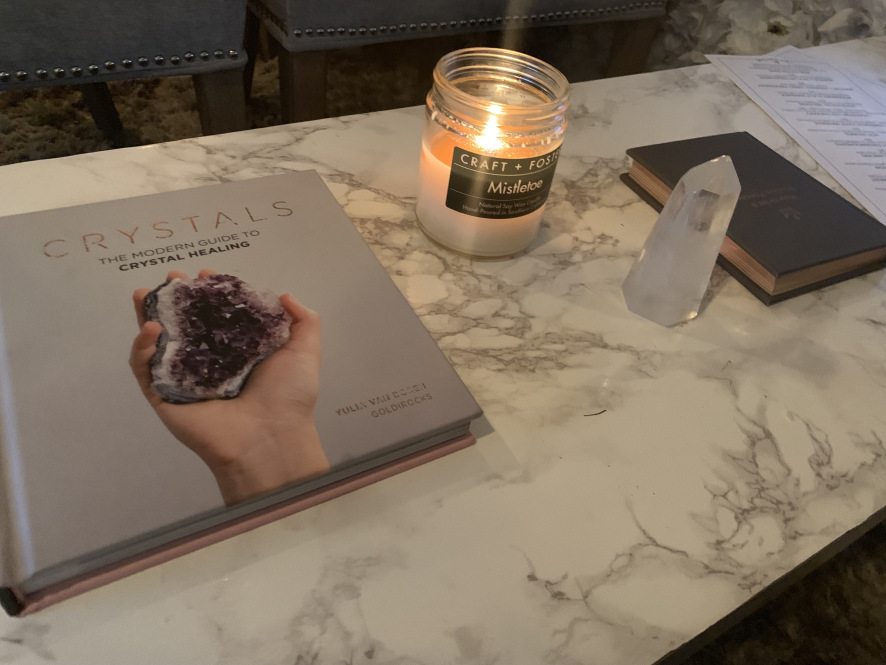 Caption: I didn't even realize there would be so much crystal stuff at Spa Kingston. When I walked in I knew I was in the right place. I picked them because they were listed on Conde Nast's Top 10 Spas in San Diego.