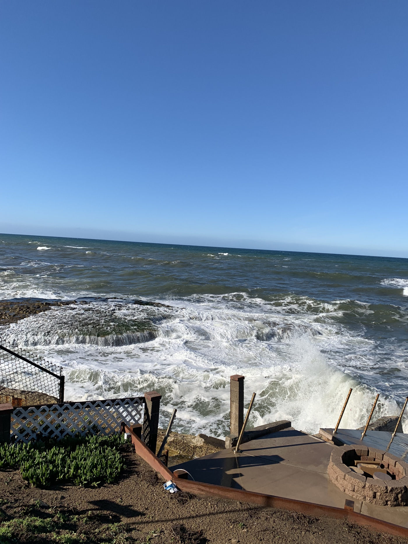The view from my hotel the Inn at Sunset Cliffs in San Diego, California.