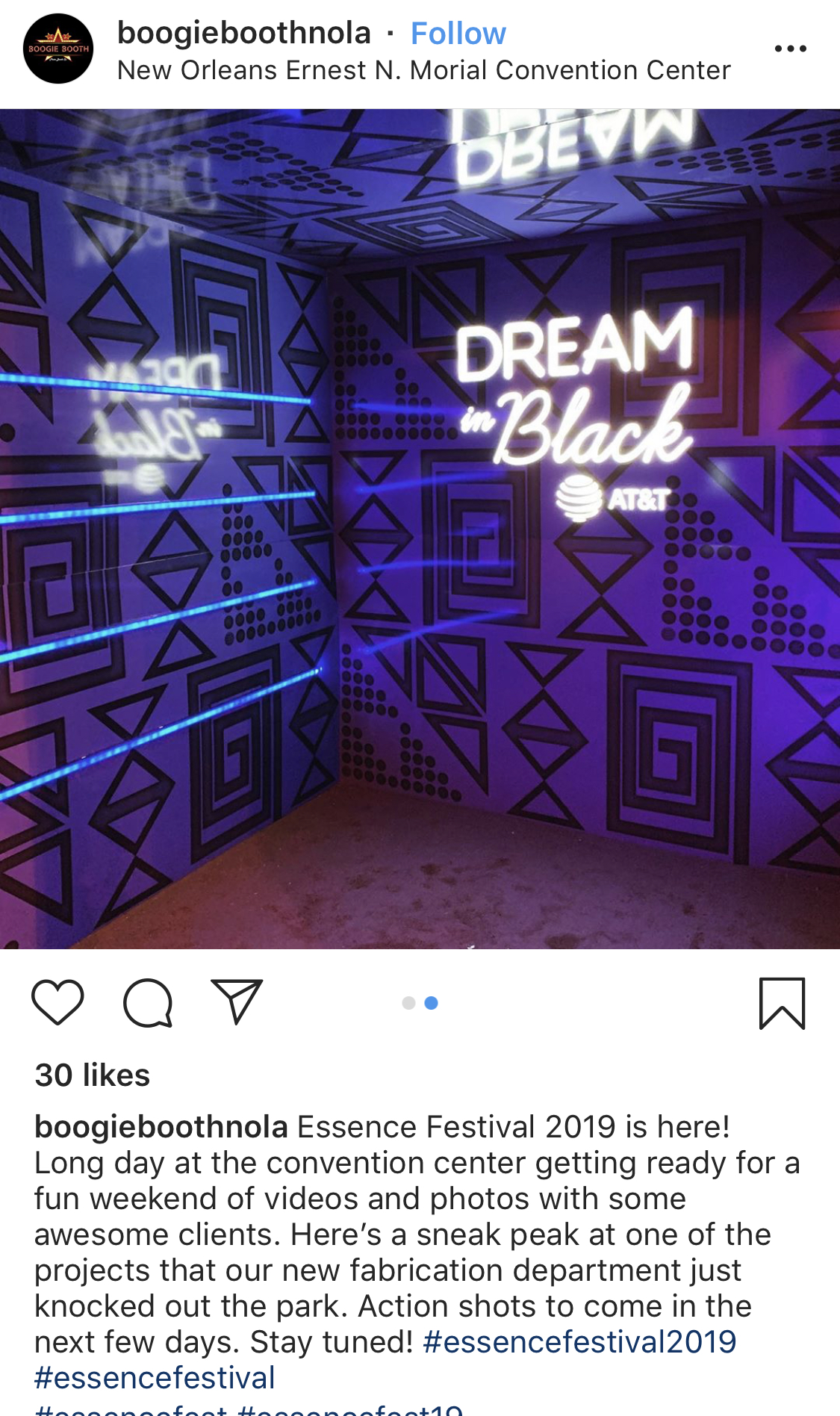 Video activations are pretty cool and I have witnessed them pop up. AT & T linked with @boogiebothnola to create this Wakanda-esque activation.