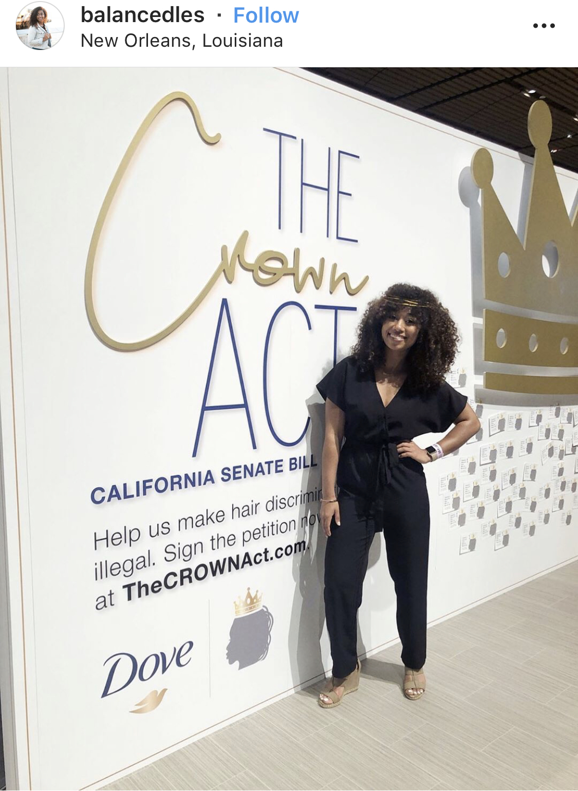 This Brand Activation involves advocacy and has a clear Call to Action, to sign a petition. Also notice the participatory cards that are placed on the wall. Dove did a great job representing their brand visually but also connecting with an issue that the Essence Audience cares about - hair discrimination.